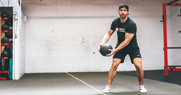Medicine Ball Rotation Exercise